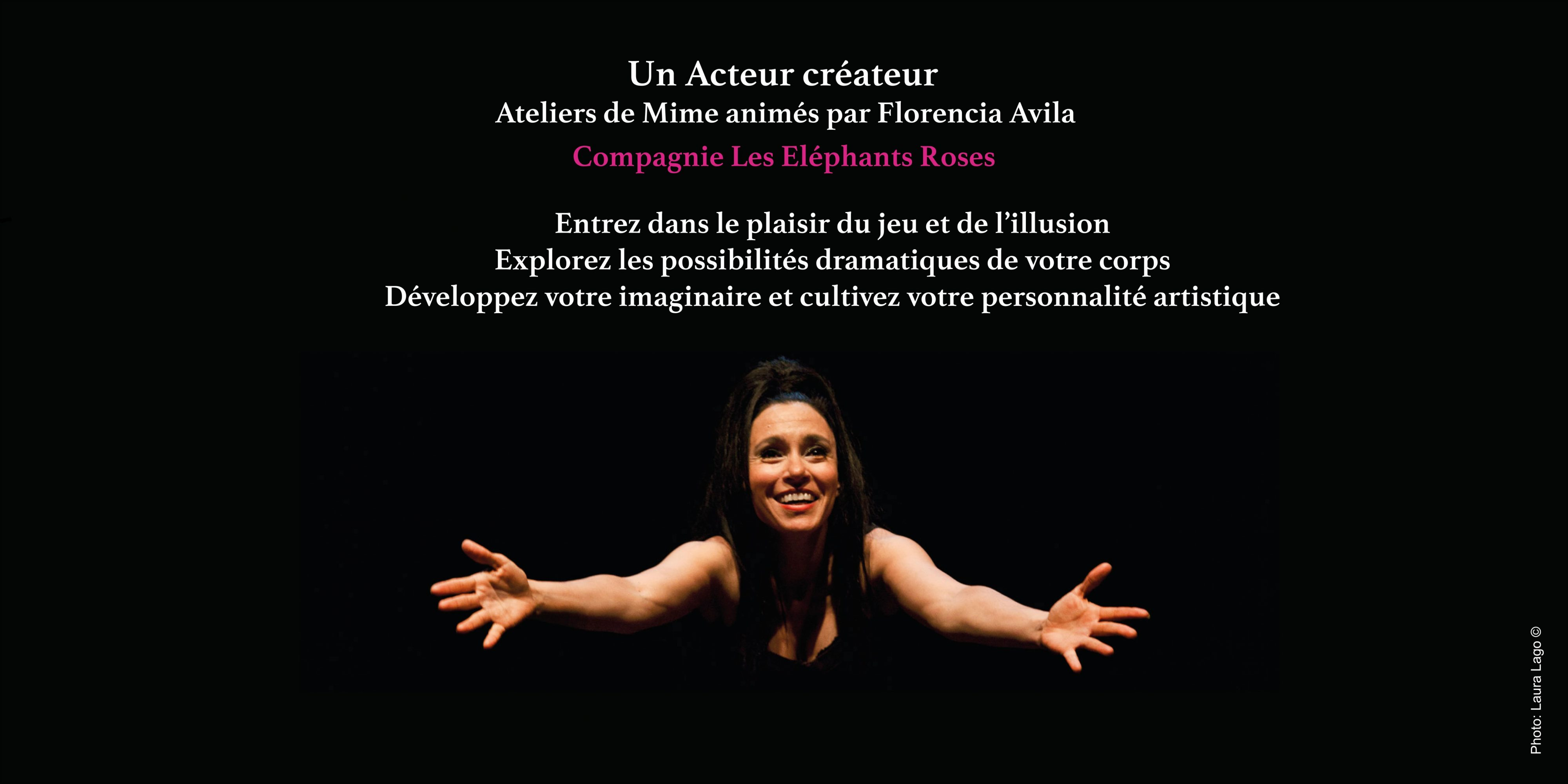 Flyer des ateliers Mime recto