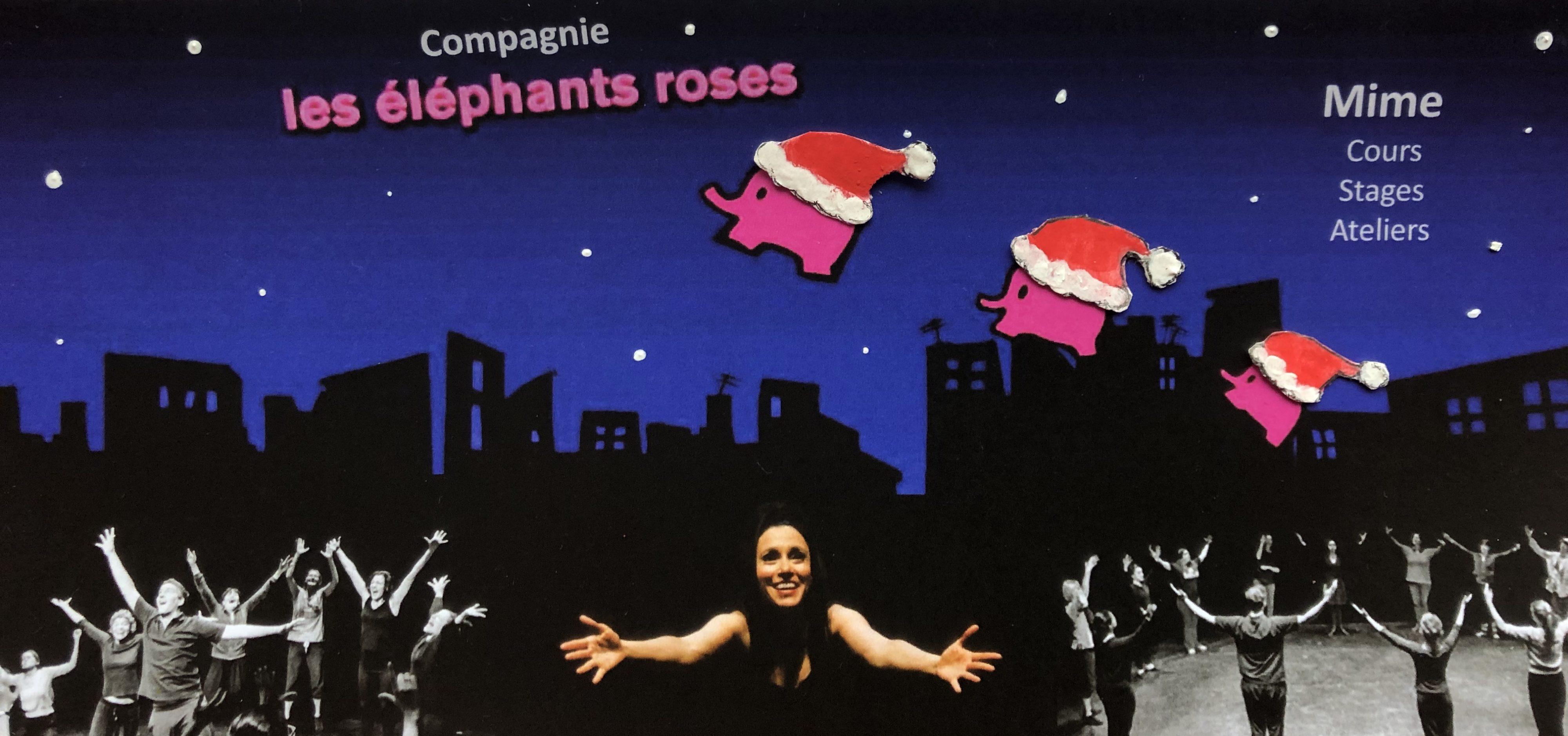 Visuel Noël Compagnie Les Eléphants Roses